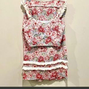Wayf Two piece set. Skirt top. Nwot. Sz s Linen